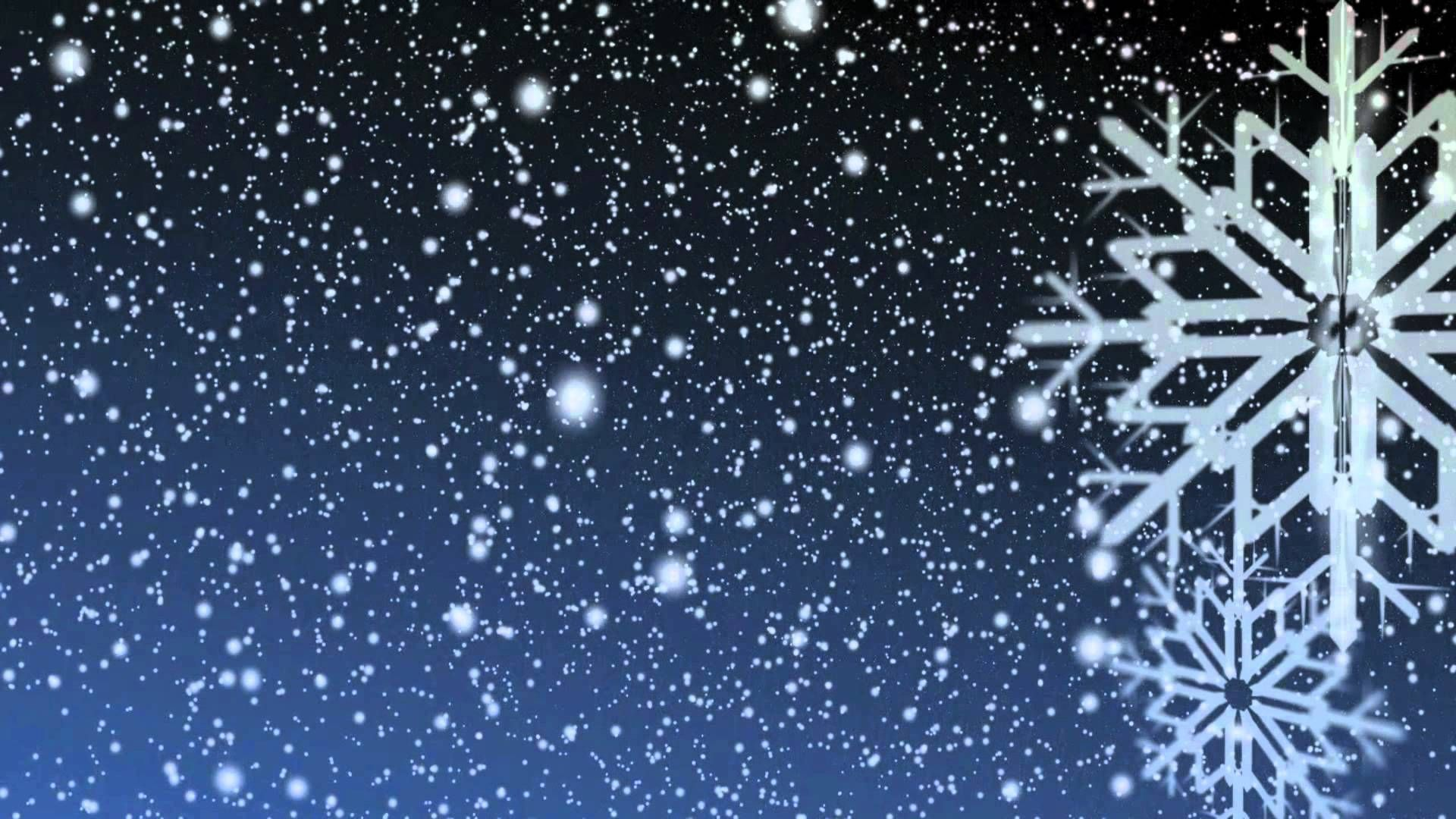Silhouette Snow Is Falling Down Computer Wallpaper Snow Fairy Snowflakes