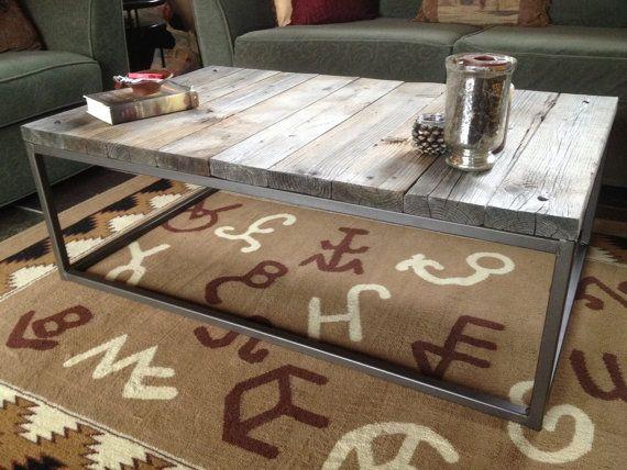 wood + rustic metal coffee table | Buenisimooo | Pinterest | Mesas ...