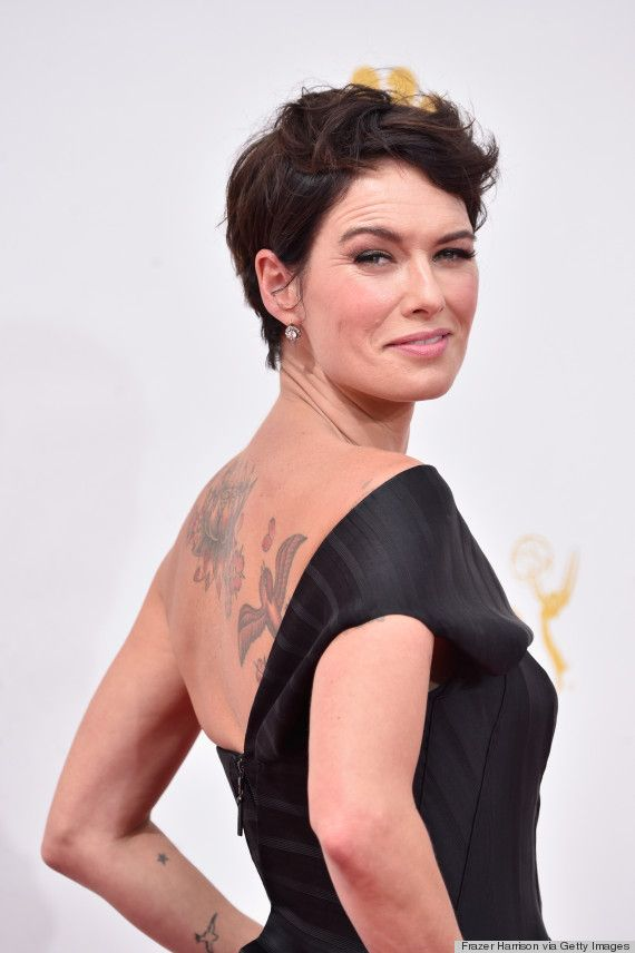 Lena Heady Goes Dark And Dramatic For The 2014 Emmys Mom Hairstyles Lena Headey Hair Makeup