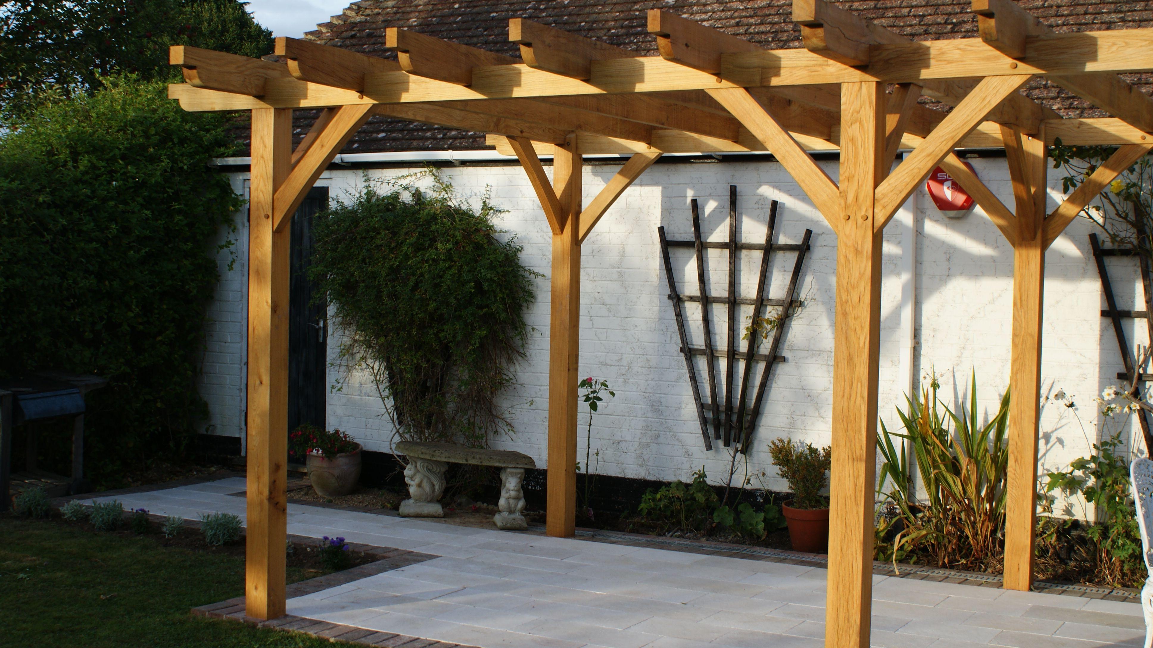 Traditional Pergola In Oak Pergola Timber Pergola Pergola Designs