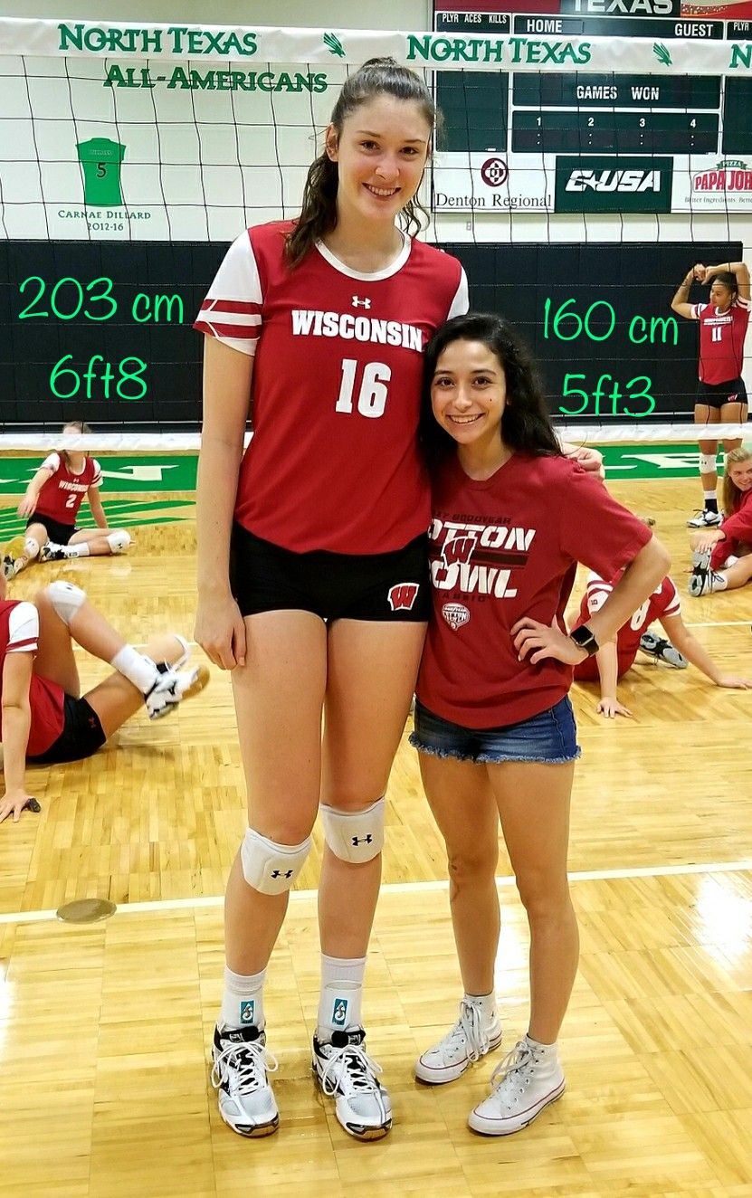 203cm 160cm Female Volleyball Players Tall Girl Tall Women