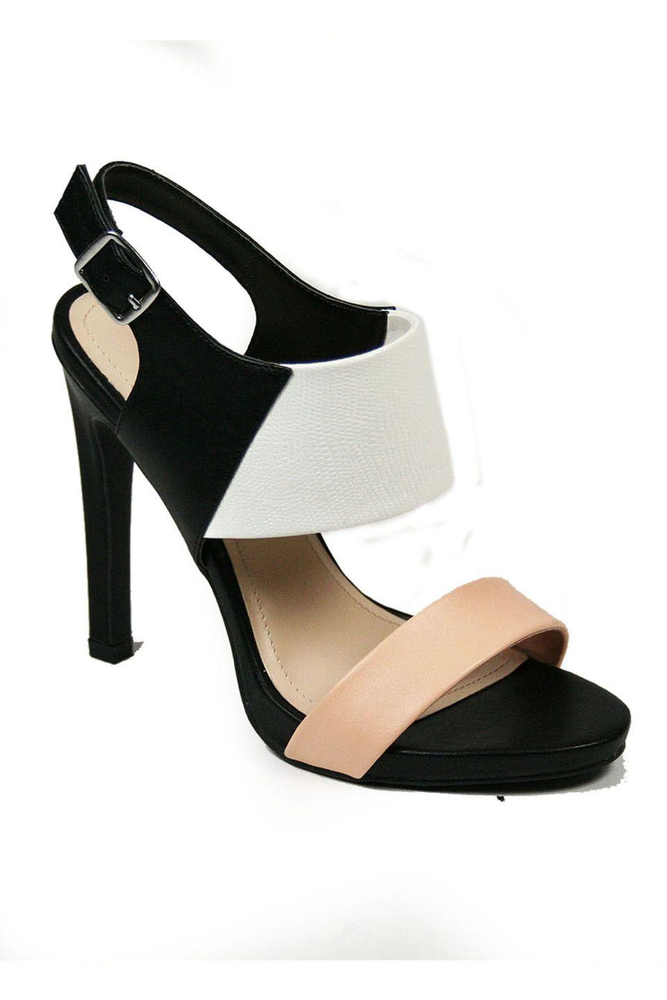 01e87794457 Anne Michelle - Iceland-08 Color Block Sandals in Black Multicolor ...