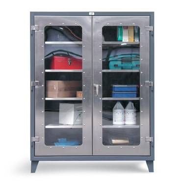 """60"""" Wide Tall Stainless Storage Cabinet - Car Guy Garage"""