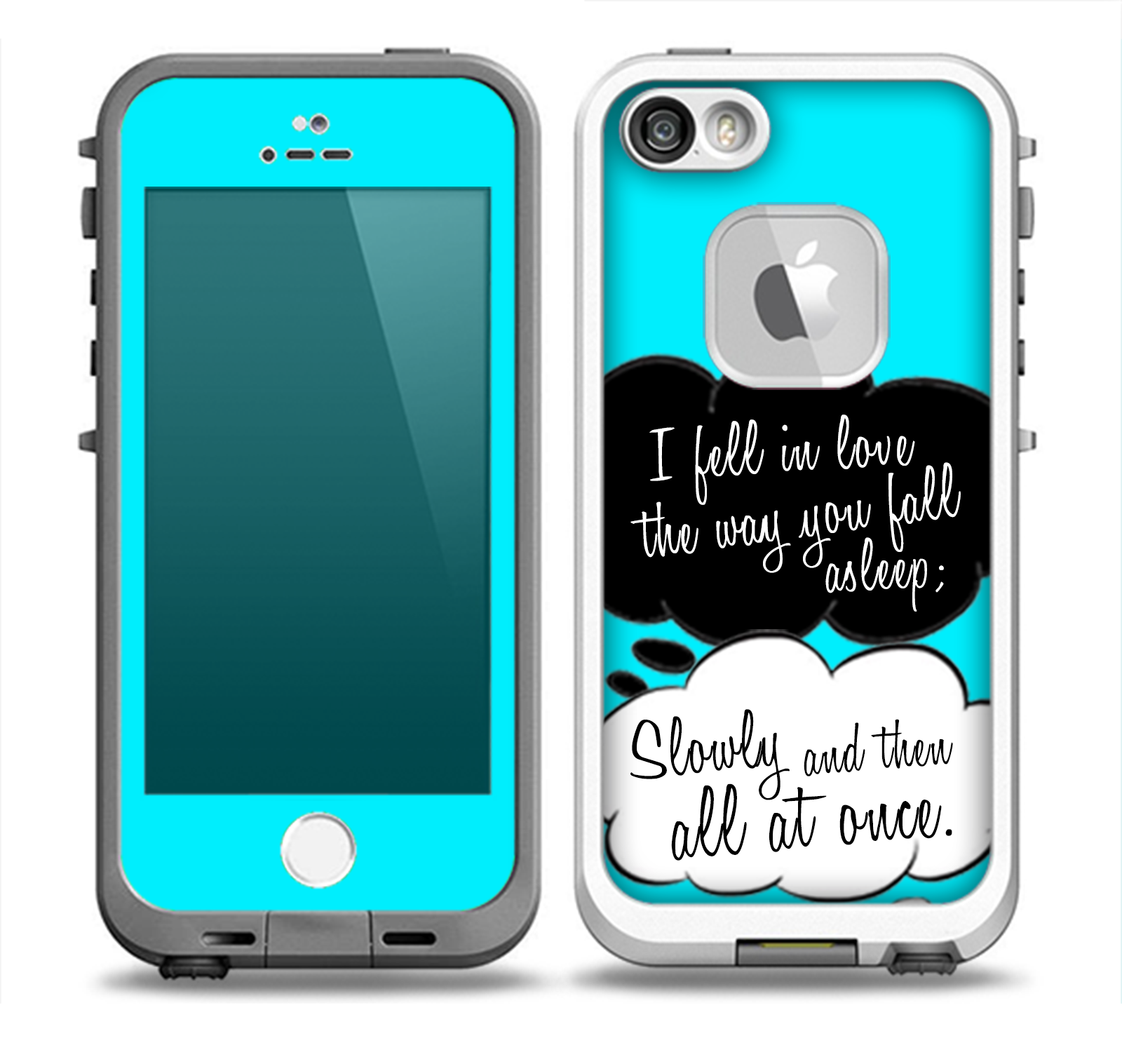 The Okay Speech Bubbles V5 LOVE Skin for the iPhone 55s