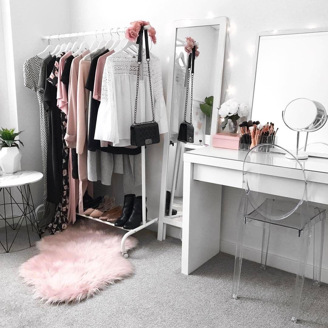 Mesa De Maquiagem 60 Ideias Para Decorar E Organizar  ~ Organizar Quarto Pequeno Feminino