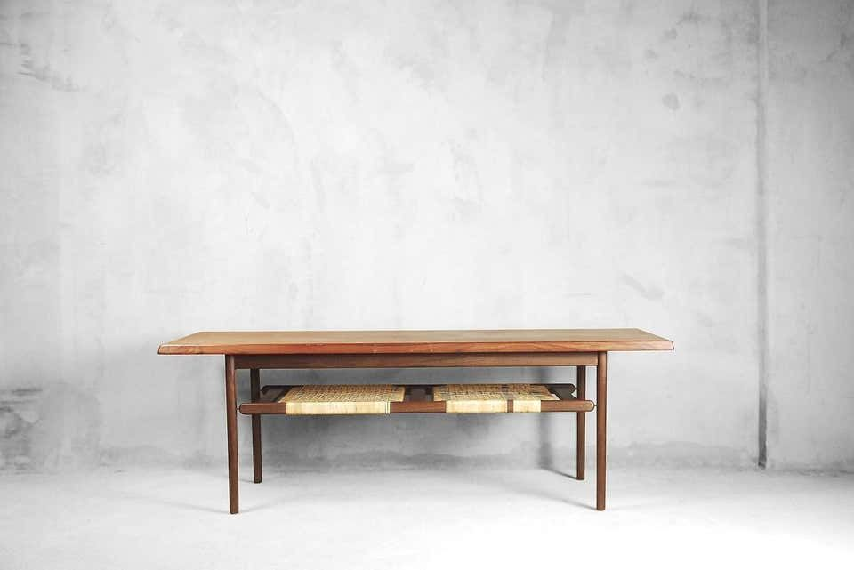 For Sale On 1stdibs This Classic Sofa Table Was Manufactured In Denmark During The 1960s It Was Finished In Teak And Ha Table Coffee Table Teak Coffee Table