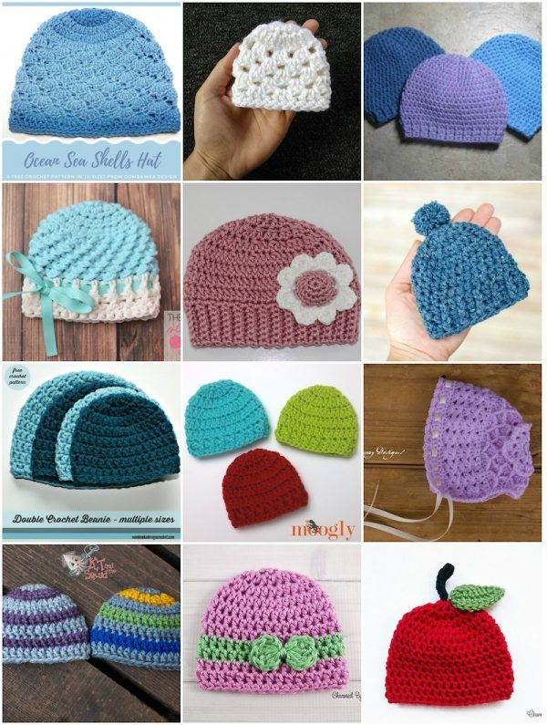30 Free Crochet And Knitting Patterns For Preemie Hats As Part Of