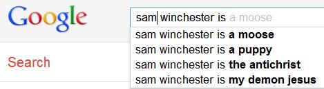Sam Winchester Google Search Results