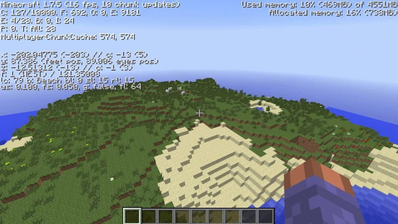 Amazing Minecraft seed 1 7 5 desert mountain, plains biome