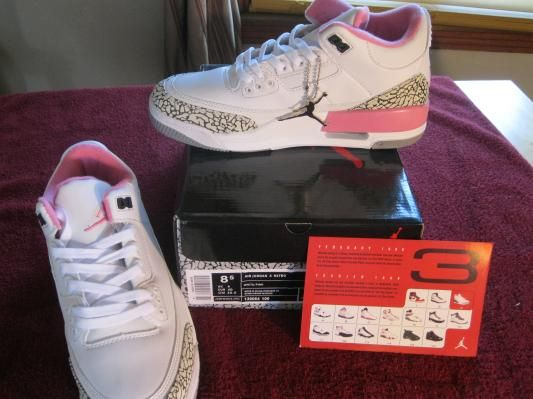 free shipping 1f55f d7a6d Brand New Pink and Black Women's Jordans. Size 8.5 ...