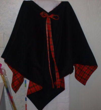 Easy Fleece Poncho | ♥cute little sew things♥ | Pinterest | Nähen ...