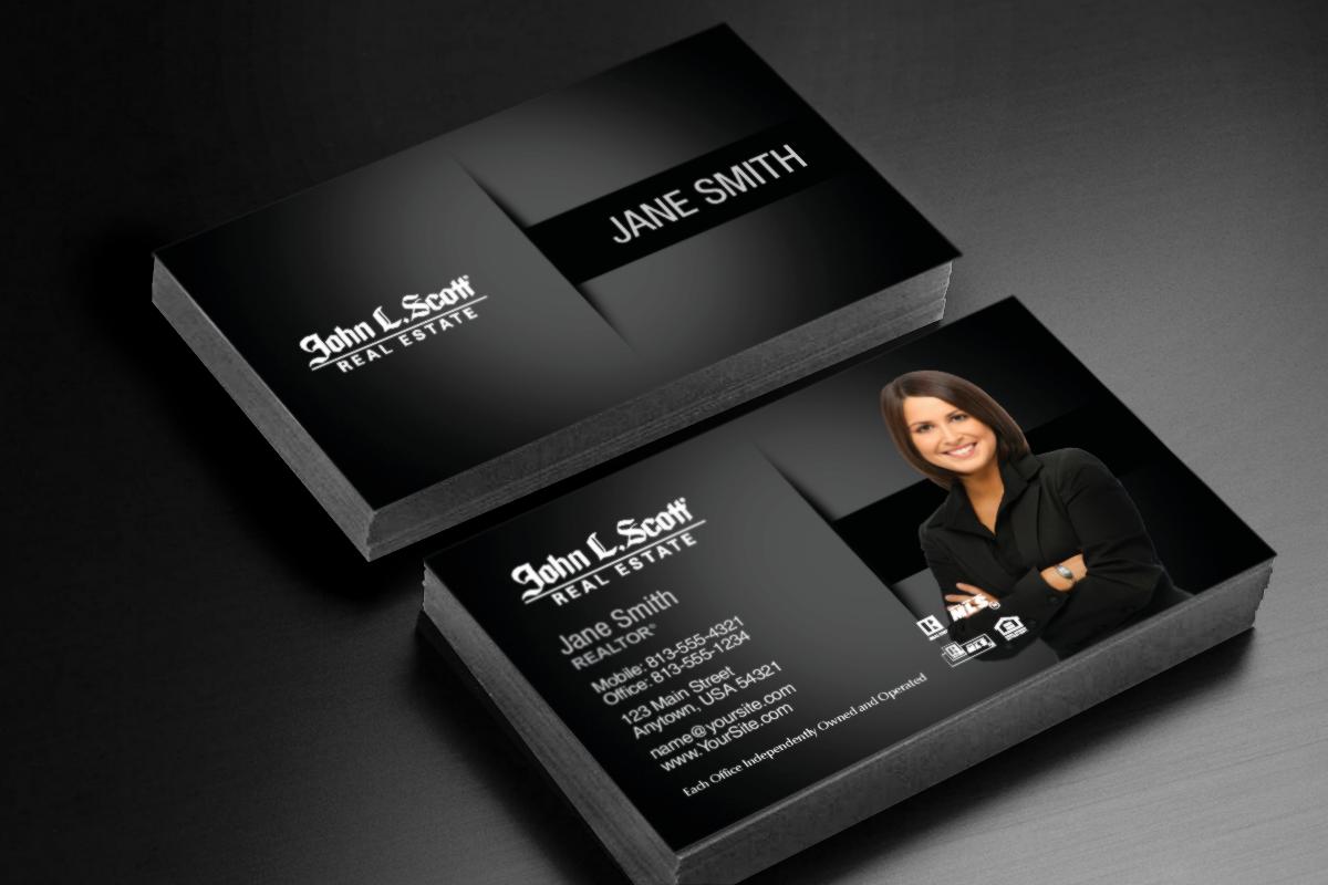 We Ve Got New Business Card Designs For John L Scott Realtor Johnlsc Business Card Design Software Real Estate Business Cards Social Media Branding Design