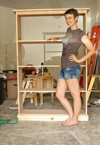 Build Bookcase Plans This Simple Pine Bookshelf With A Miter Saw Biscuits And Young