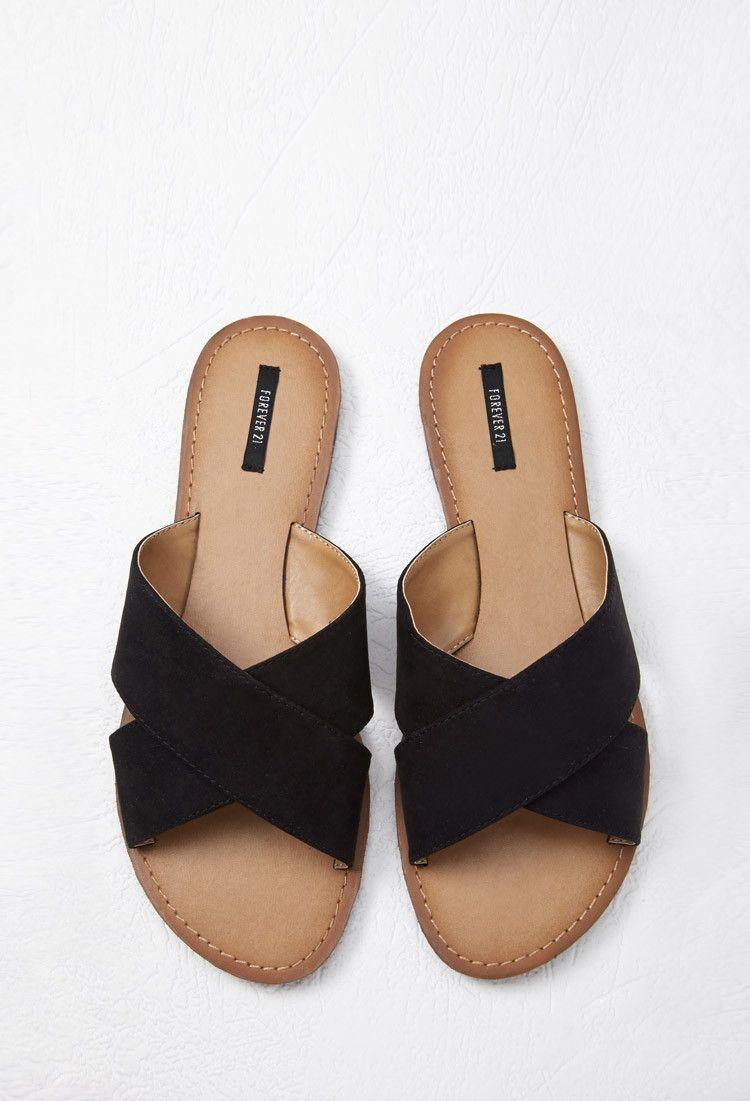 8036a9bb3 Faux Suede Crisscross Slides - Sandals   Flip Flops - 2000053731 - Forever  21 EU