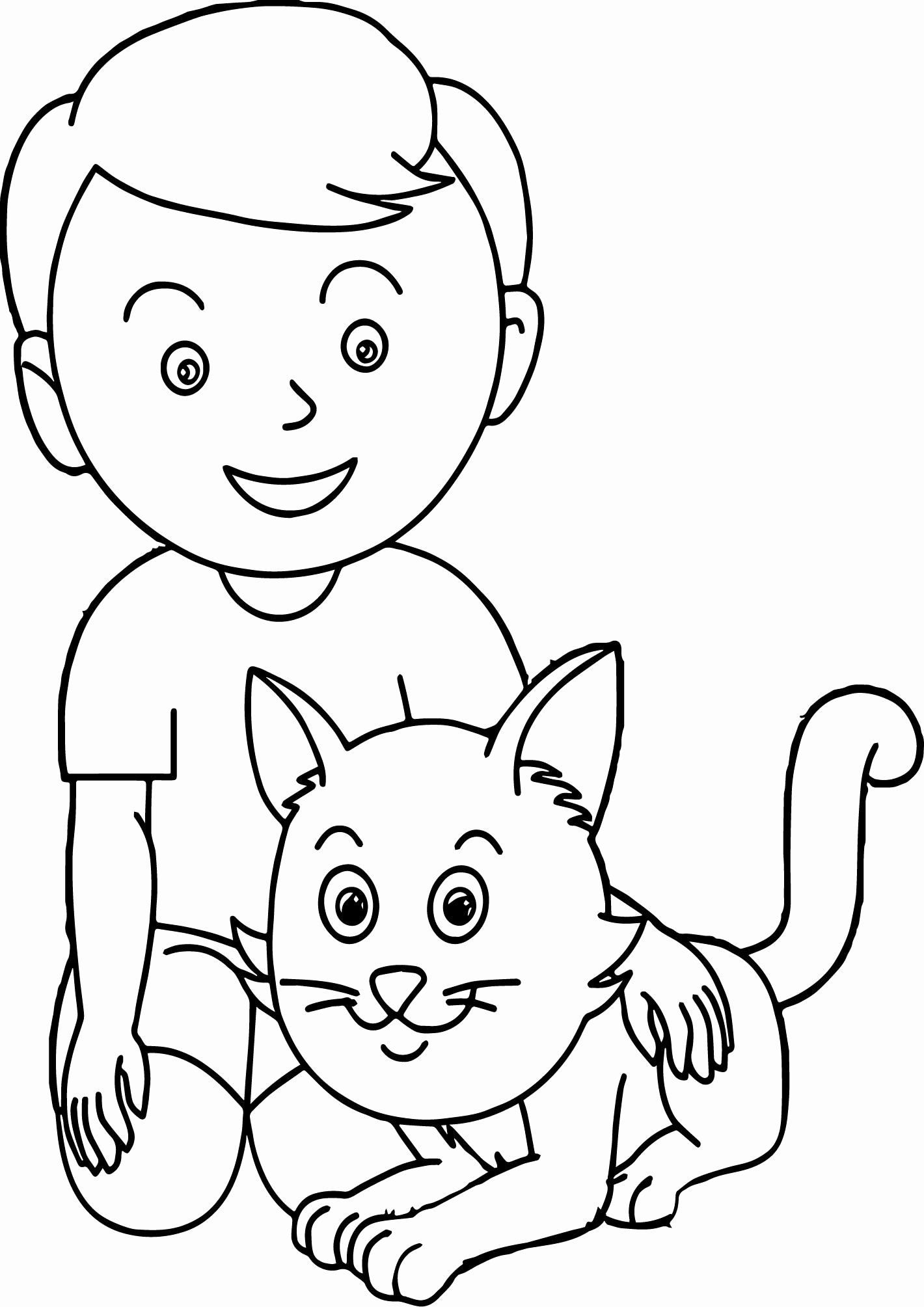 Cat Face Coloring Page Unique Baby Cat Boy Face Printable New Girl Sketch Coloring Page In 2020 Cat Coloring Page Sports Coloring Pages Coloring Pages For Boys