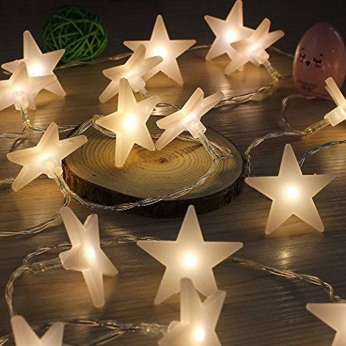 30 led battery operated five pointed star fairy string light for christmas wedding party decor - Amazon Uk Outdoor Christmas Decorations
