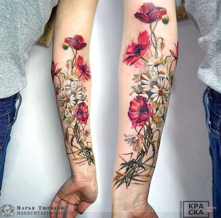 Marya Tyurpeko Blumentätowierung sleevetattoos tattoos flowertattoos is part of Tattoos, Flower tattoos, Sleeve tattoos, Beautiful tattoos, Floral tattoo, Nature tattoos - Marya Tyurpeko Blumentattoo sleevetattoos tattoos tattoo designs, tattoo, small tattoo, meaningful