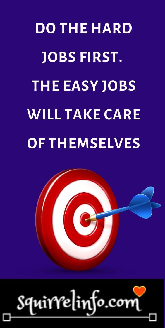 Do The Hard Jobs First The Easy Jobs Will Take Care Of Themselves Motivational Quotes Work Quotes Work Motivational Quotes