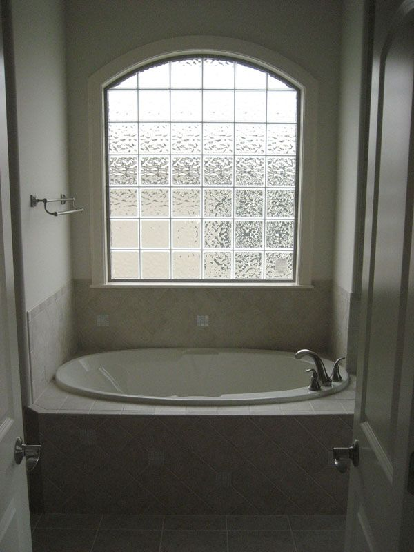 Glass Block Window Over Bathtub Bathrooms Inexpensive