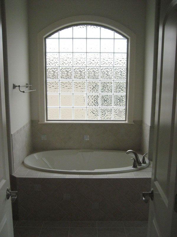 Glass Block Window Over Bathtub