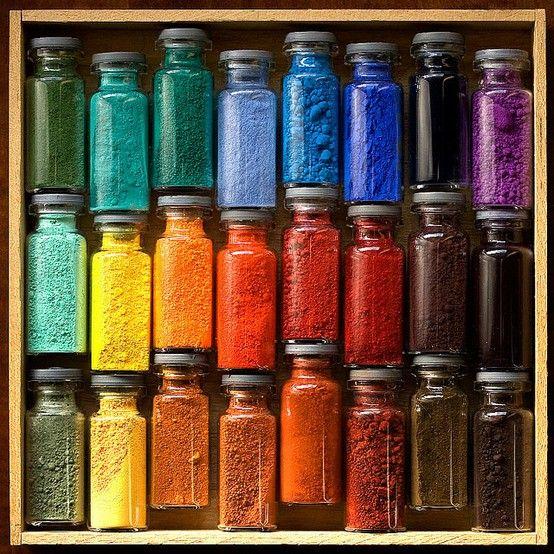 Pretty powders in lovely jars.