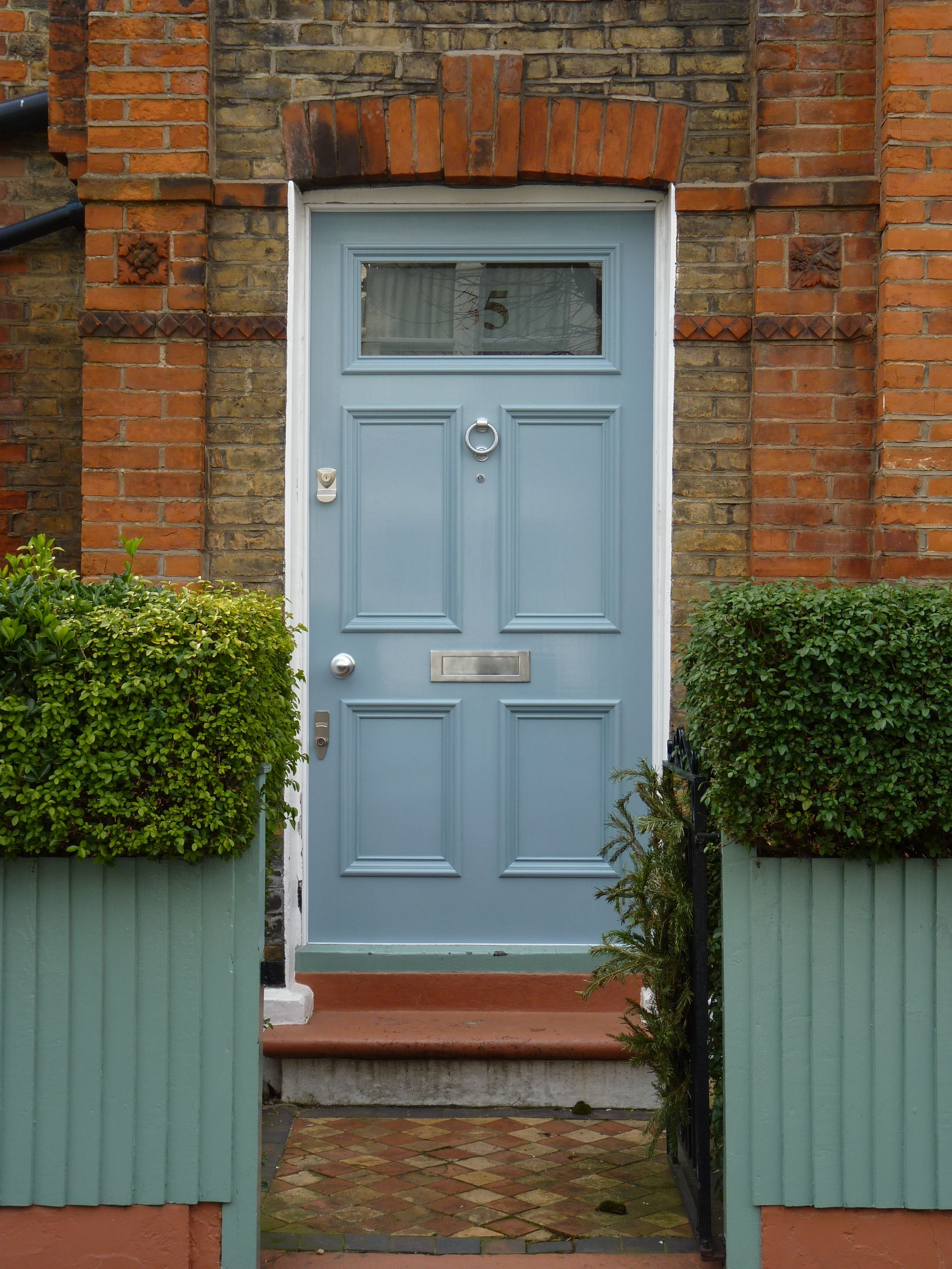 Blue victorian front door with banham locks in 2020 with