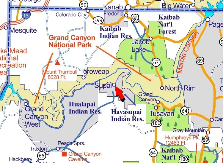 18 best grand canyon images on pinterest maps grand canyon and map of sites near grand canyon map grand canyon national park sciox Choice Image