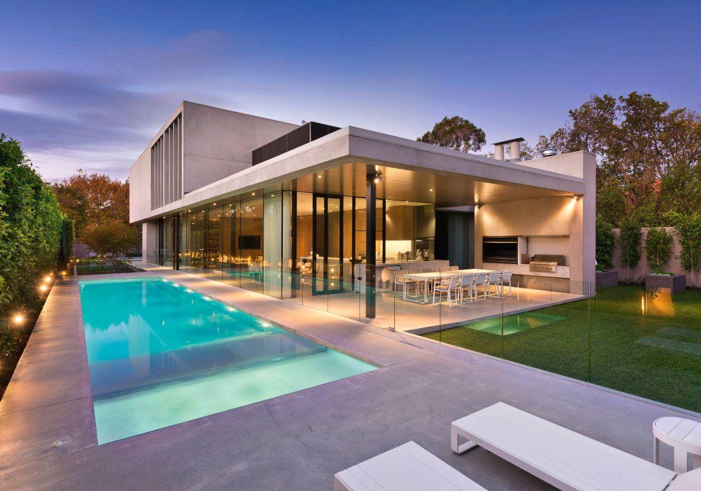 Pin On Backyard Patio Ideas Ultra modern modern backyard with pool