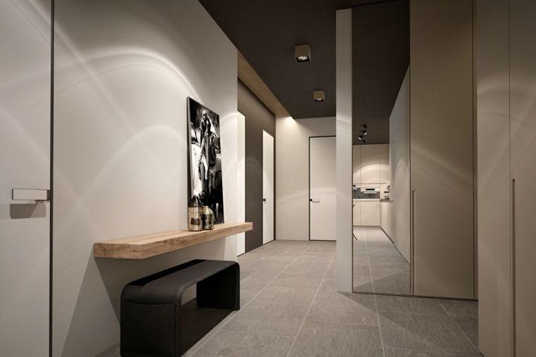 Association de couleur neutre  2 exemples magnifiques Interiors - deco entree de maison