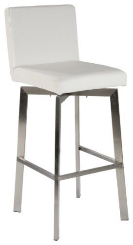 Moe S Home Collection Giro Counter Stool White By Moe S
