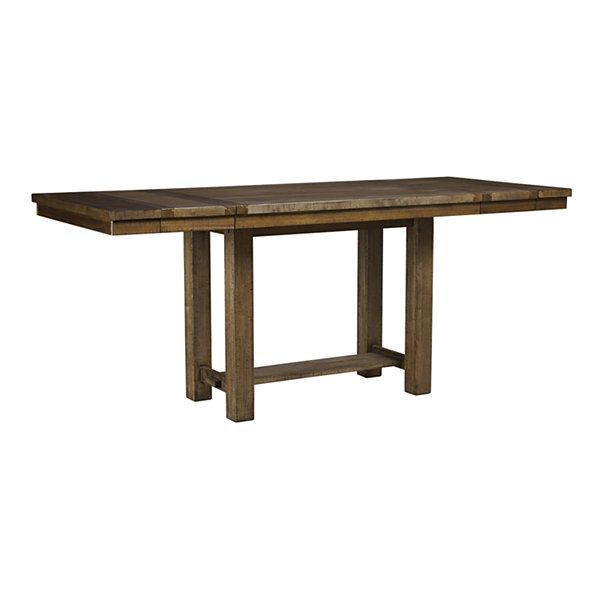 Krinden Counter Height #Kitchen #Table, distressed nutmeg ...