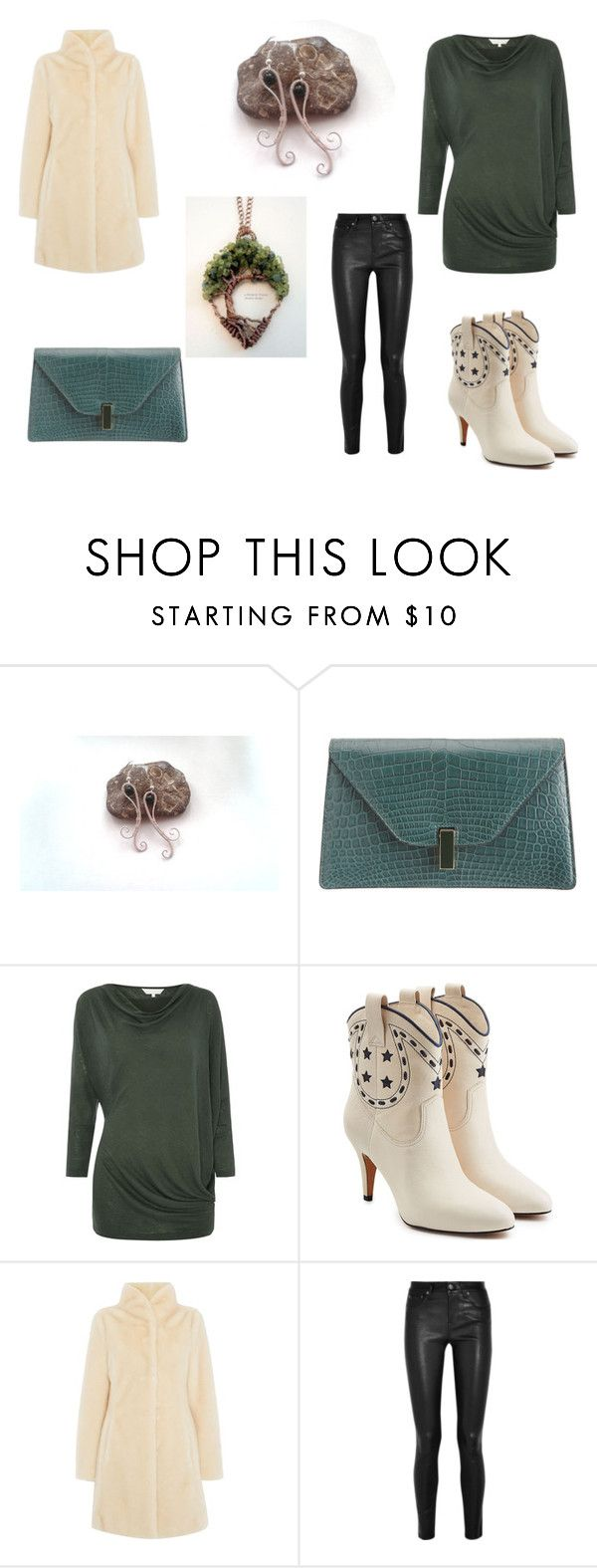 """Green With Ivory!"" by monika-przymuszala ❤ liked on Polyvore featuring Valextra, Gray & Willow, Marc Jacobs, Episode and Helmut Lang"