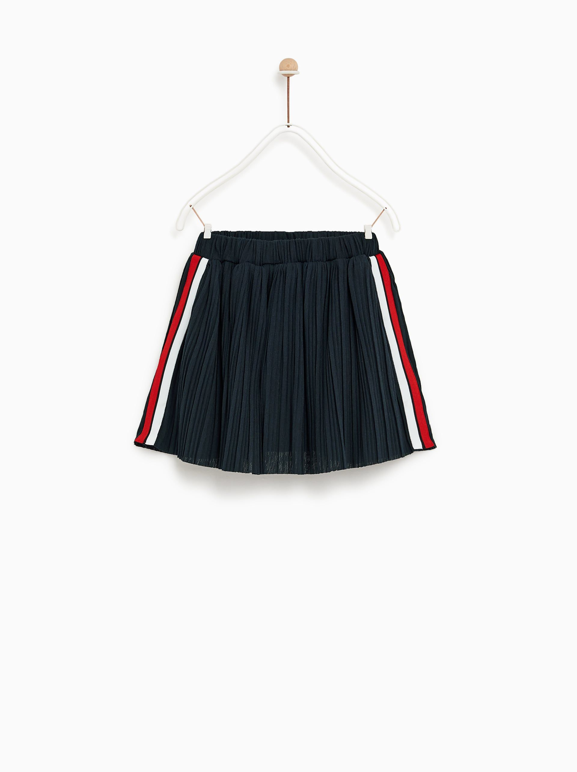 Image 1 Of Skirt With Side Stripes From Zara Saia Listrada Roupas De Menina Looks Estilosos