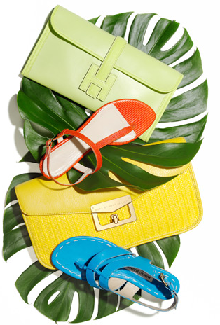 Summer purses and sandals.