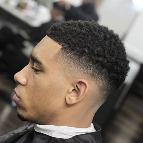 black men haircuts temple fade