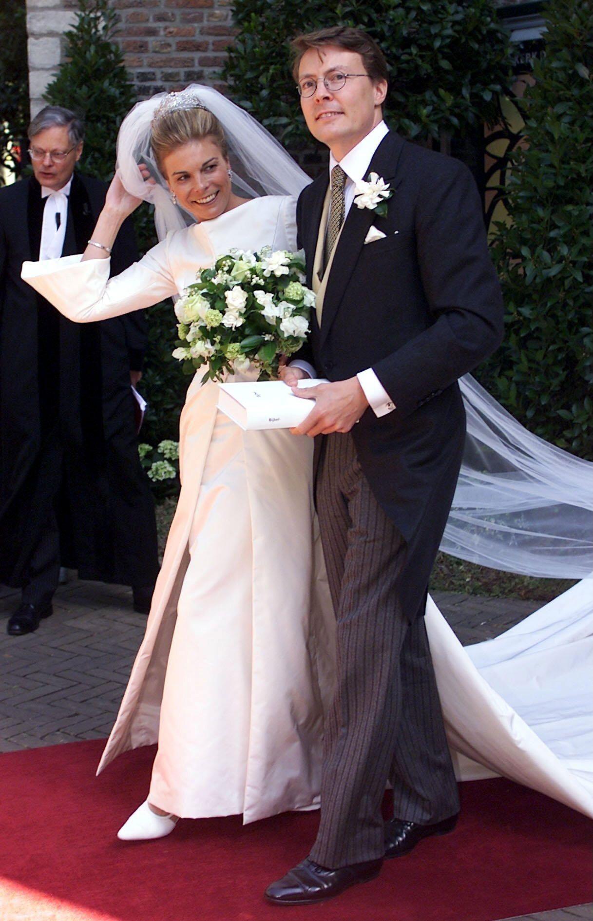 19 Mai 2001 Laurentien Brinkhorst Die Braut Von Prinz Constantijn Tragt An Ihrem Braut Hochzeitskleid Royale Hochzeiten
