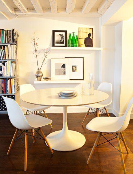 Une salle à manger marquée par l\u0027omniprésence du design contemporain