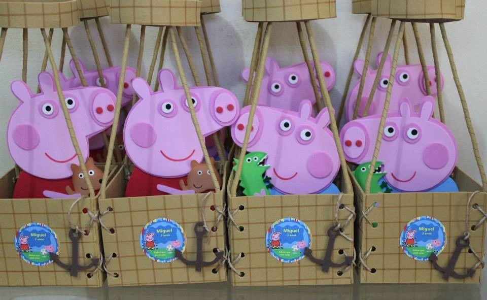 Centro de Mesa Balao Peppa Pig