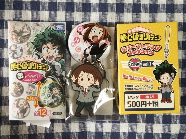 My Hero Academia Ochako Uraraka Can Badge Rubber Strap Charm Card