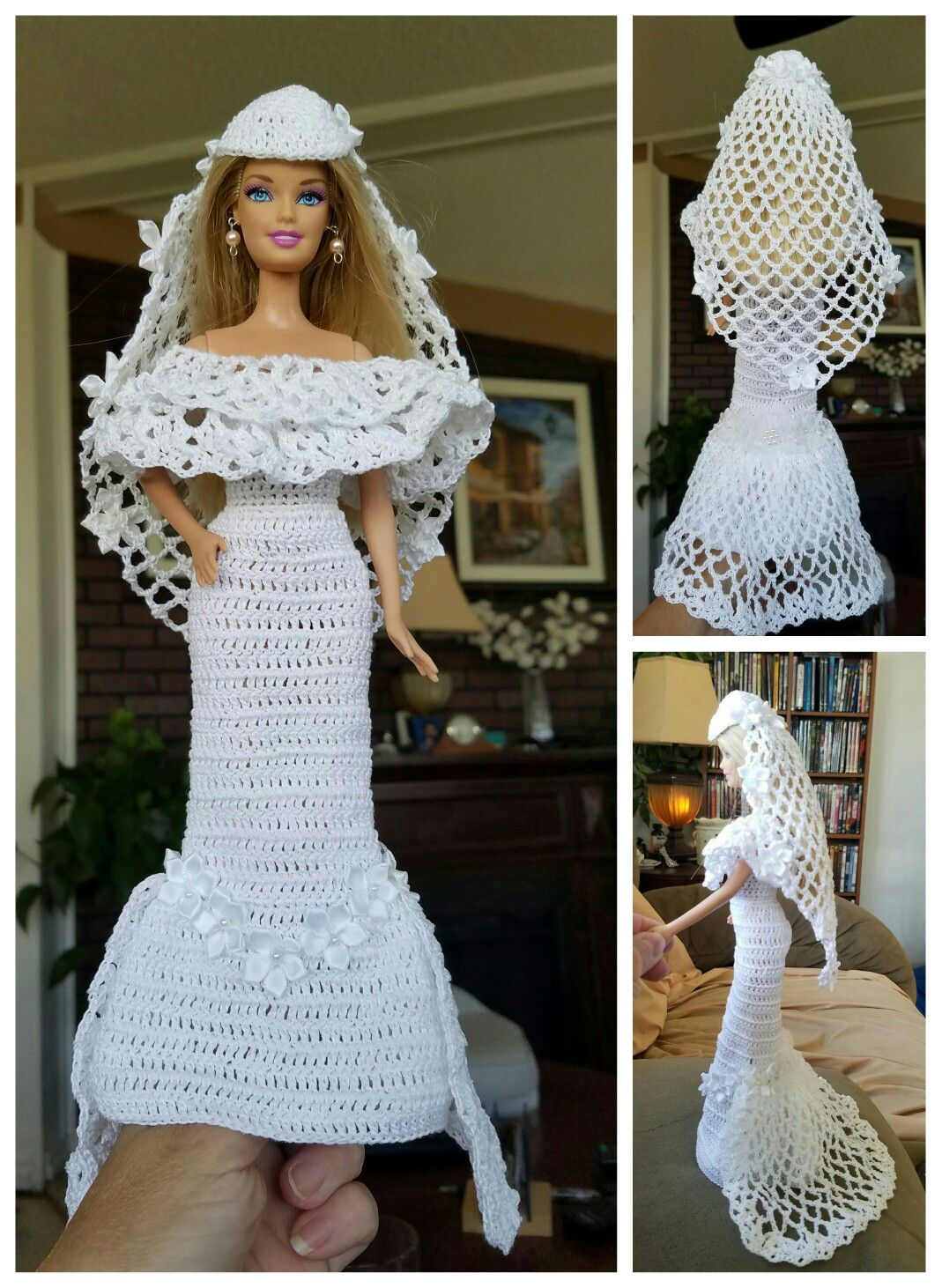No pattern barbie pinterest patterns dolls and crochet no pattern barbie weddingcrochet barbie clothesbarbie bankloansurffo Image collections