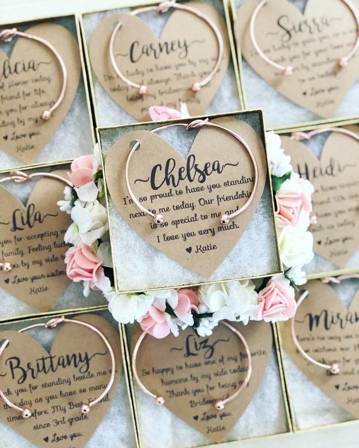 Bridesmaid Knot Bangle & Heart Card #greatnames