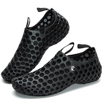 a81ce54ab Men Mesh Breathable Light Two Way Wearing Slip On Beach Sandals ...