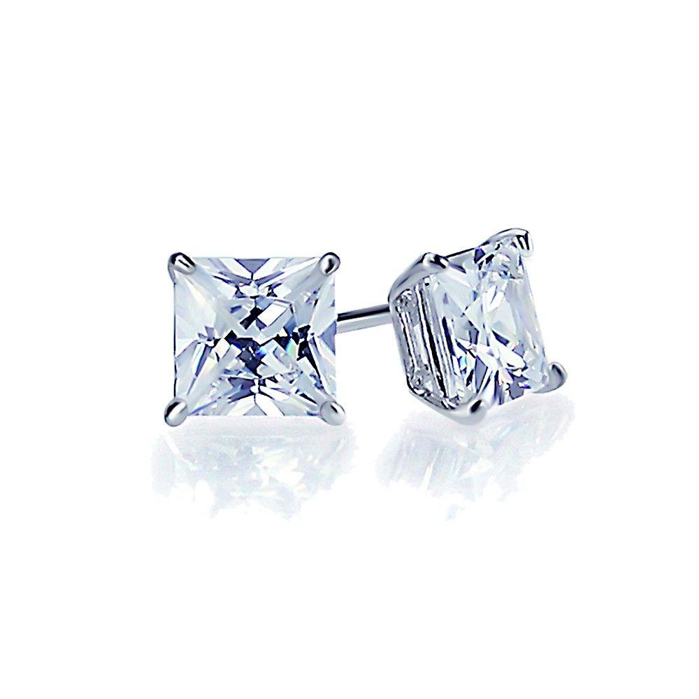 Miadora signature collection 14k white gold 1ct tdw diamond double row - Diamond Diamond Studs Solid 14k White Gold