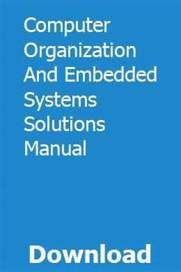Handbuch für Computerorganisation und Lösungen für eingebettete Systeme pdf download