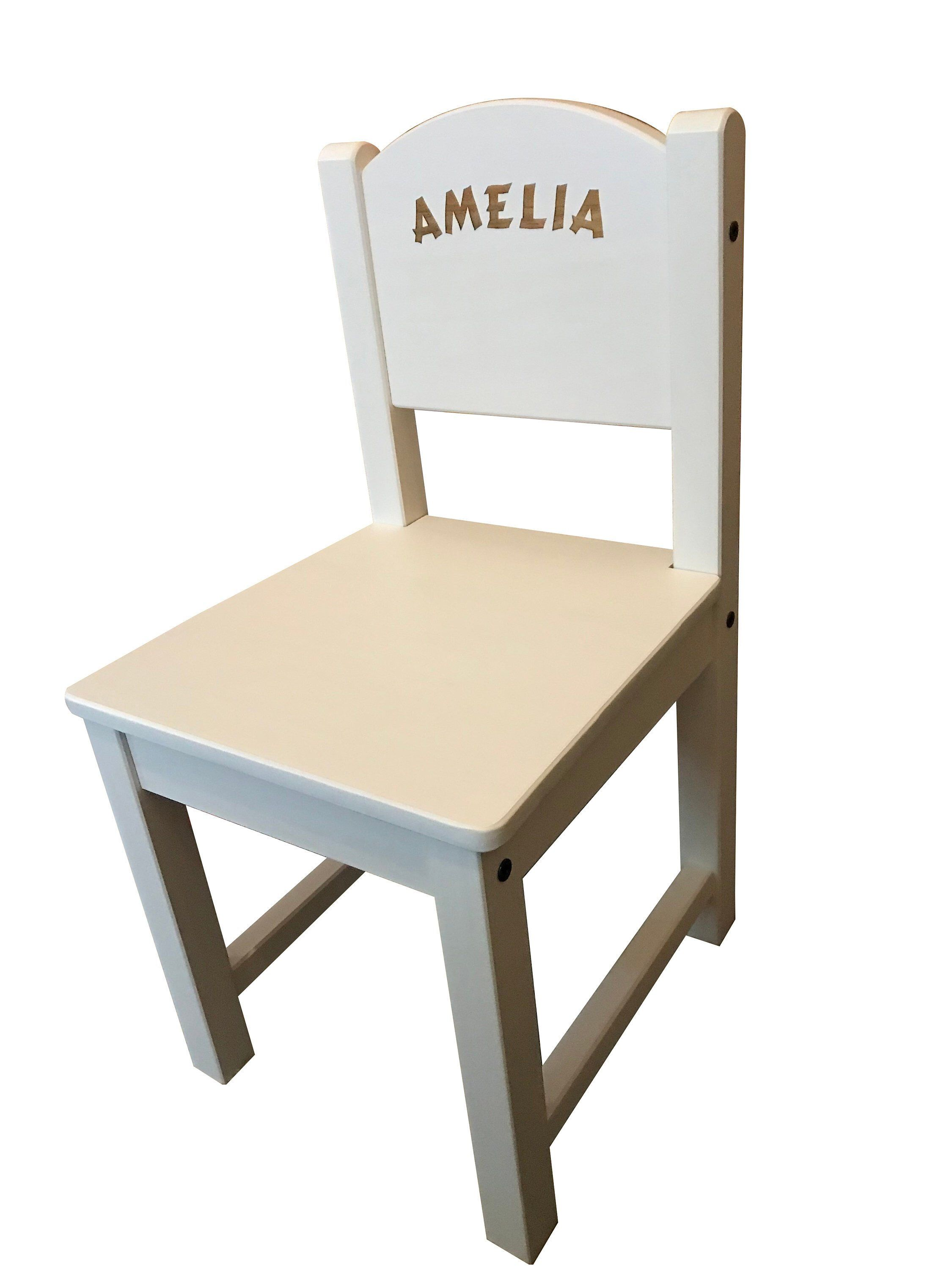 Terrific Personalised Childrens Kids Ikea White Wooden Chair Engraved Pdpeps Interior Chair Design Pdpepsorg