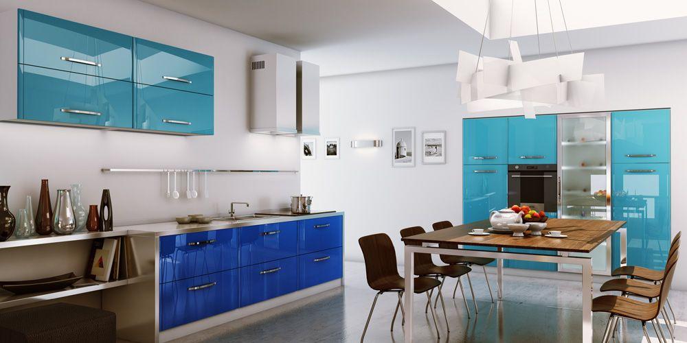 Fantastic Modern Blue Kitchen Design Ideas With Modern Kitchen Impressive Blue Kitchen Design Inspiration