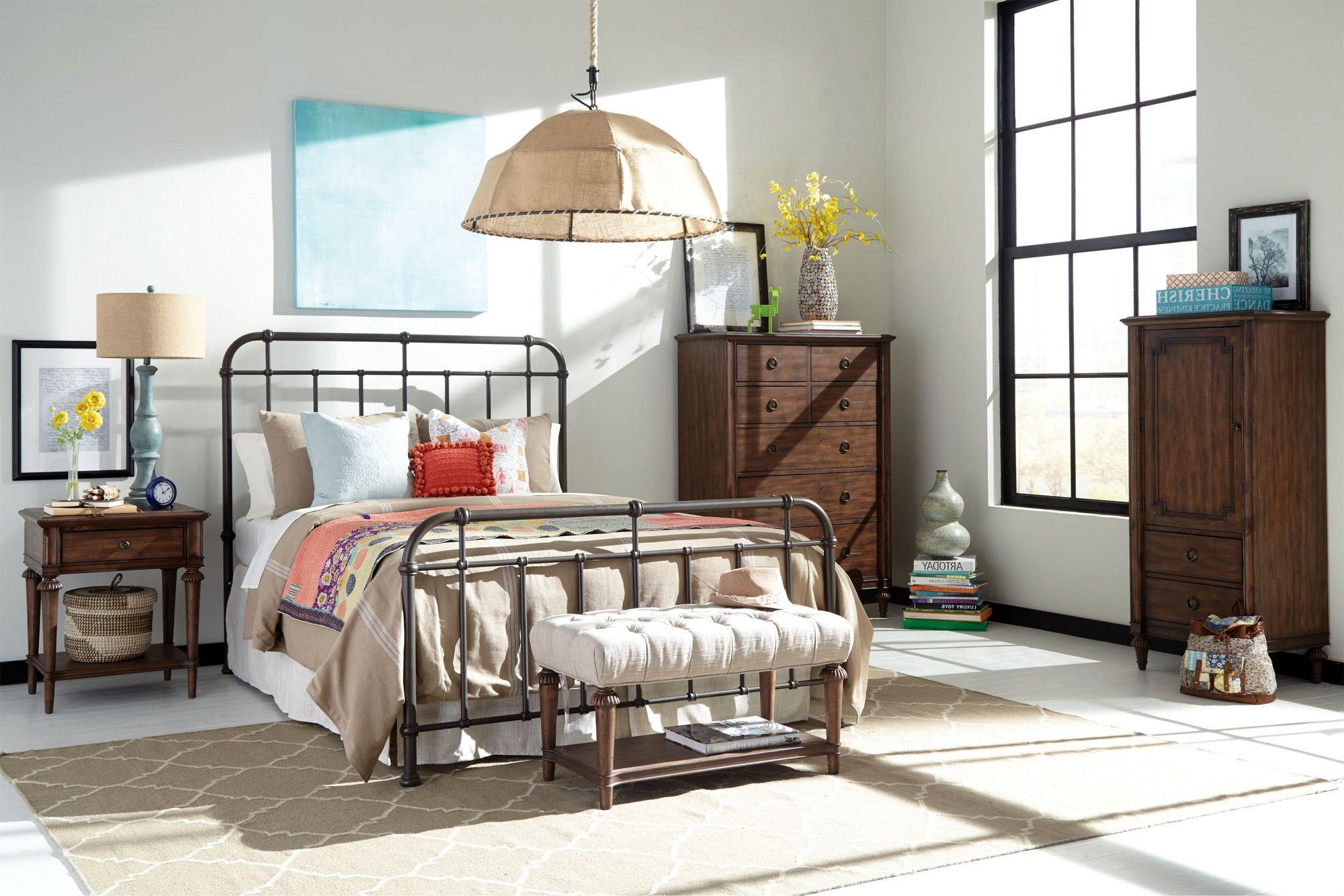 Cranford Spindle Metal Bedroom Set Broyhill Home