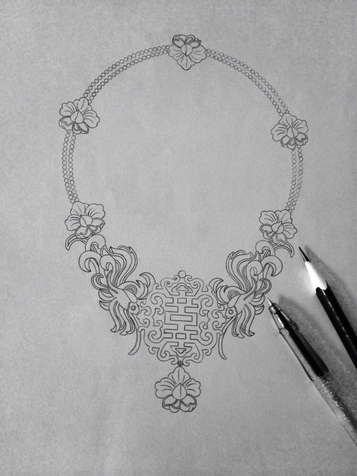 Jewelry Design Line Art : 喜氣洋洋 jubilant jewellery designer by osscarina chong