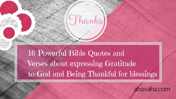 bible verses expressing gratitude