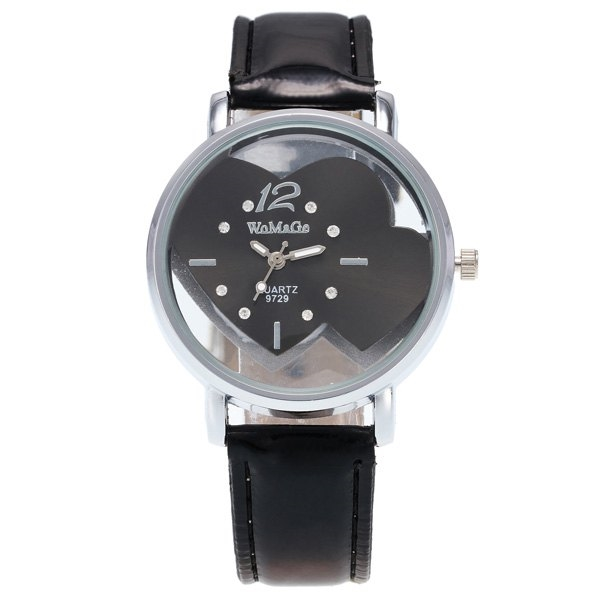 4.47$  Watch here - http://digxt.justgood.pw/go.php?t=200432302 - Rhinestone Double Heart Adorn Quartz Watch 4.47$